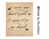 I carry your heart - Typography Art Print - printable