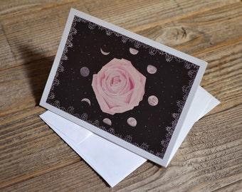 Rose Moon greeting card