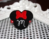 Boutique Minnie Mouse MONOGRAMMED felt hair clip