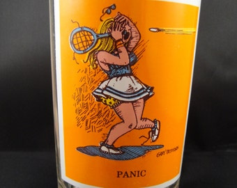 Tennis Player Panic Gary Patterson Sport Collector Pepsi Glass