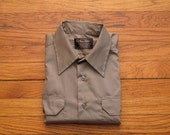 mens vintage FIVE STAR selvage woven work shirt