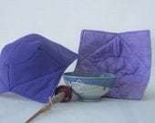 Support Spindle Bowl no-Slip  Slip cover Purple Hearts