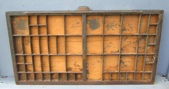 Vintage Wooden Printers Tray Letterpress Drawer Type Set Drawer Hamilton
