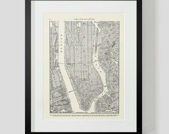 Map of Lower Manhattan New York