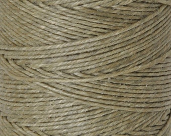 Tools & Supplies-3-Ply Irish Linen Cord-Waxed-Olive Drab-Crawford Threads-Quantity 120 Yards
