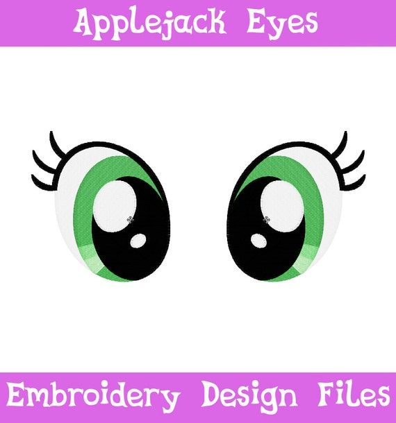 Embroidery files applejack eyes machine by