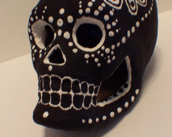 35% off Hand-Painted Sugar Skull-- One of a kind Dia de los Muertos (Day of the Dead) paper mache skull