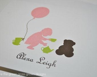 Teddy Bear Tea Party Note Cards