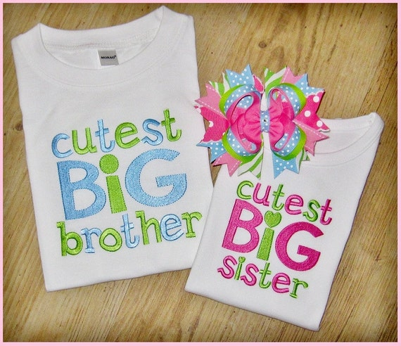 Big sister big brother little sister little by for Big sister birth announcement shirts