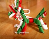 Red and Green Candy Cane Korker Pony-O Set