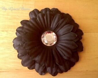 Black Gerbera Daisy Hair Clip