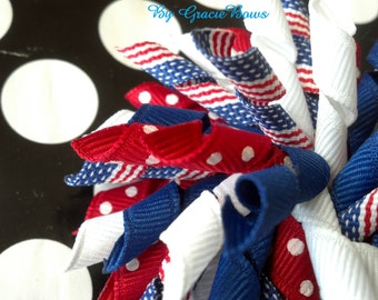 Old Glory Korker Hair Bow