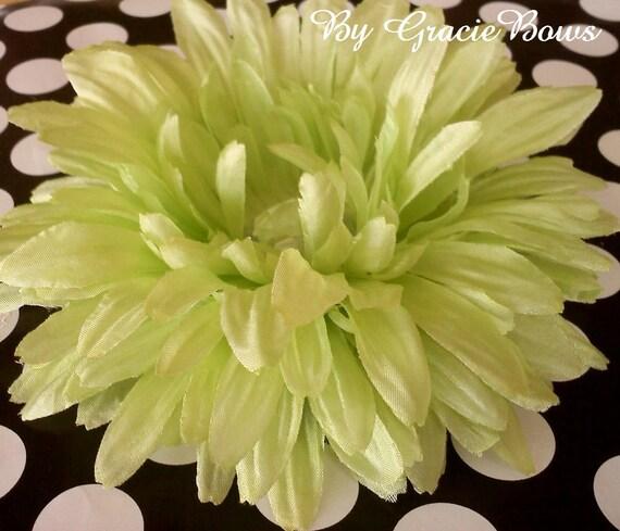Large Light Green Bling Gerbera Daisy Hairclip