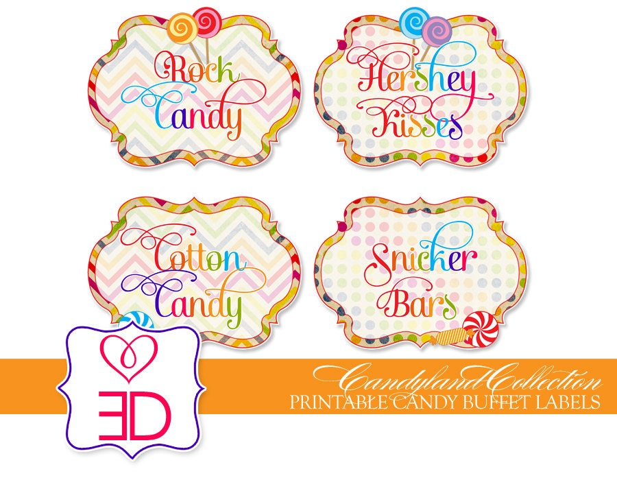 Candyland Collection Printable Candy by EccentricDesignsbyLH
