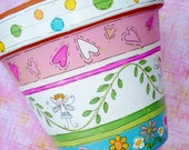"""Hand Painted Flower Pot """"Fairy Love"""" - Made to Order"""