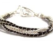 Leather & Pearls Bracelet Beginner Tutorial
