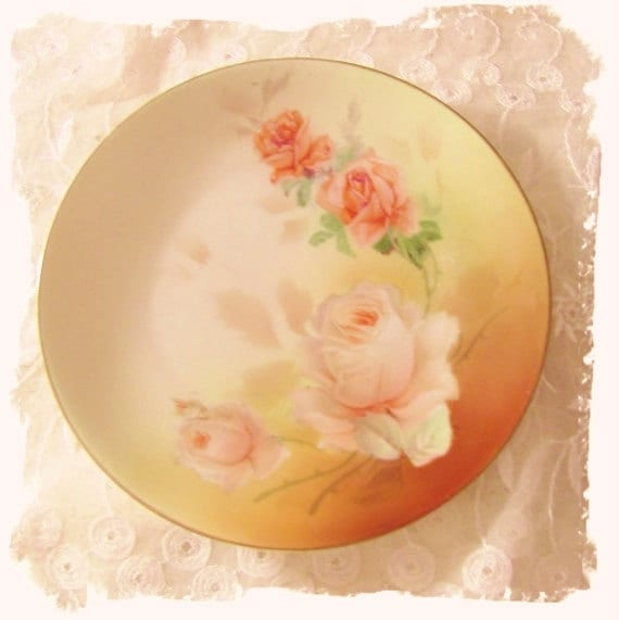 Vintage Porcelain Hand Painted Plate Marked
