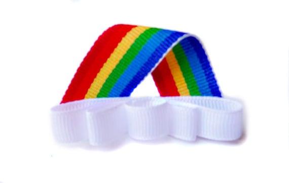 Rainbow Ribbon Sculpture hairclip, baby hairclip, girl hair clip / barrette.