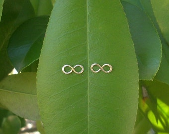 14k Gold INFINITY Earrings