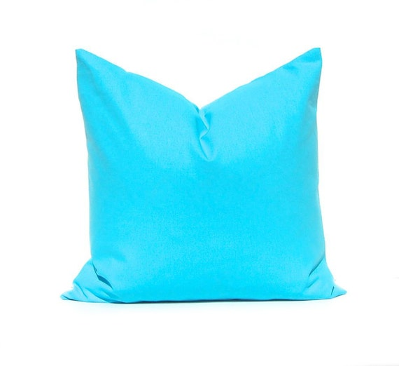 Decorative Throw Pillow Cover Turquoise Pillow Cover Solid