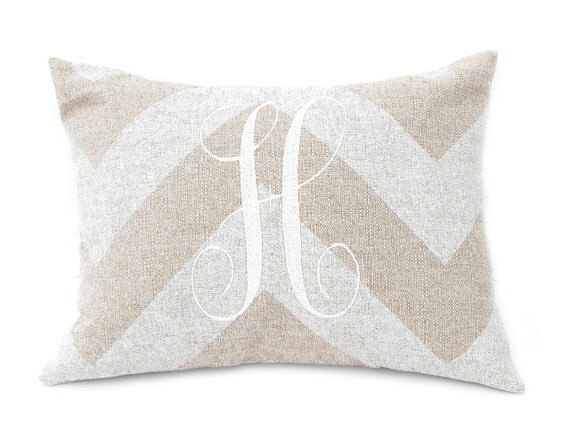 Monogrammed Decorative Throw Pillow Cover By FestiveHomeDecor