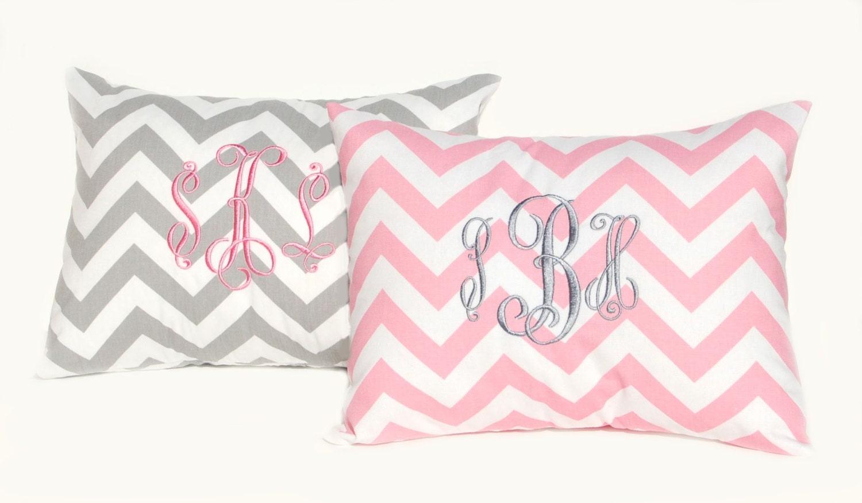 Monogrammed Pillow Baby Girl Pillow By Festivehomedecor On