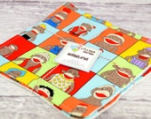 Eco Friendly Washcloth or Cloth Wipes with Soft Terrycloth -Set of 2 in Sock Monkey