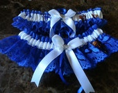 University of Kentucky blue Lace Wedding Garter set