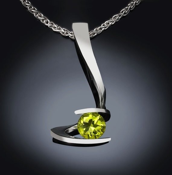 Modern Peridot Necklace