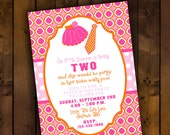 Printable Invitation Design - Tutus and Ties Collection - DIY Printables by The Paper Cupcake