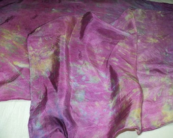 Violet Silk Scarf