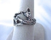 Serval Cat RIng Sterling