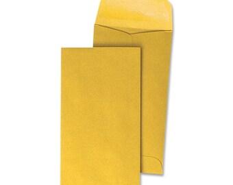 Coin 1 Envelopes 2.25 x 3.5 kraft brown, 50qty