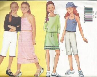 Butterick 6662 Fast and Easy Girls Skirt, Pants, Top Patten SZ 7-10