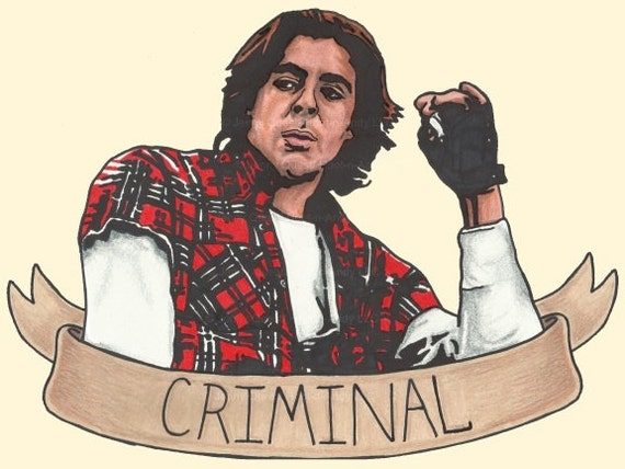 80s Pop Portrait Art PRINT: Breakfast Club Criminal