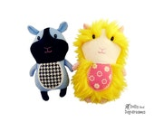 Guinea Pig PDF Sewing Pattern Softie Childrens Plush Pet