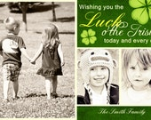 Printable St Patrick's Day  Photo Card