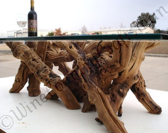 """VINYA -  """"Alionza"""" - Old Vine Grapevine Coffee Table - 100% recycled"""