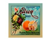 Small Journal - Albion Brand Valencias  - Fruit Crate Art Print Cover