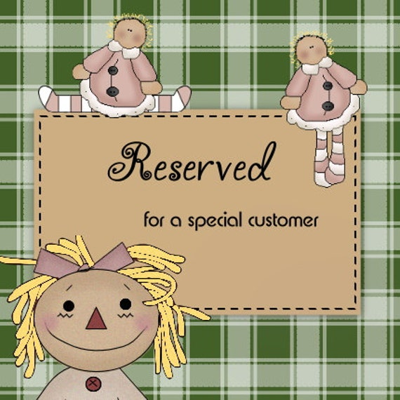 Reserved Listing for Lauren Sheets