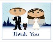 Winter Wedding Thank You Notes, Lake Tahoe Wedding, Woodland Wedding, Colorado Wedding, Mountain Wedding, Ski Wedding