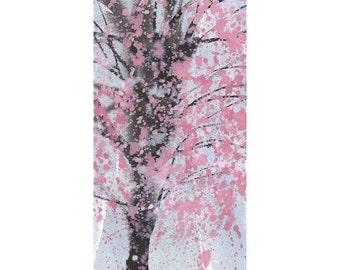 Grid series No.2 Cherry Blossoms 2 of 6, original watercolor