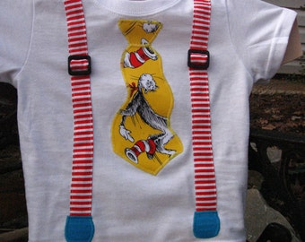 Dr Suess Cat in the hat tee shirt