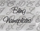 Personalized Bling Nameplate - To be purchased with Card Boxes ONLY
