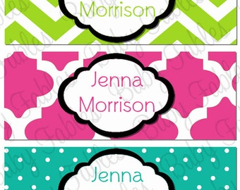 Personalized Waterproof Labels Waterproof Stickers Name Label Dishwasher Safe Daycare Label School Label - Jenna