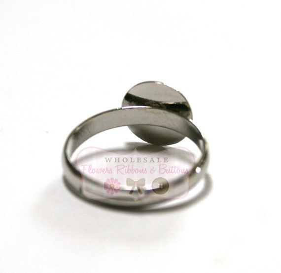 24 Silver Plated Adjustable  Rings - LAST 3