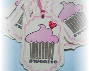 SWEETIE  Cupcake tags (8)