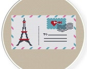 Instant Download,Free shipping,Counted Cross stitch pattern,Cross-Stitch PDF,A love letter from paris,zxxc0344