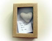 Unique Mother's Day Card, Unique Card for Mom, Original Card, a heart shaped rock in a box, special gift for mom, heart rocks from israel