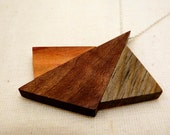 Geometric Collection - Black Walnut, Plum & Ponderosa Pine